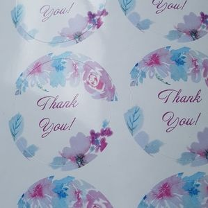 "NEW 24 Design Thank You Stickers 1.5""x1.5"" in."